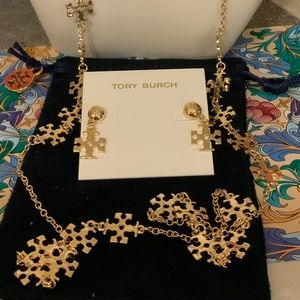 Tory Burch retired kira necklace @ earrings